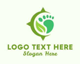 Foot - Foot & Leaf logo design