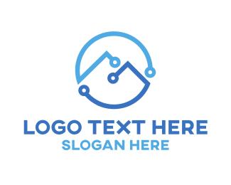 Social Network - Tech Peak logo design