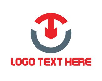 Letter T - T & U logo design