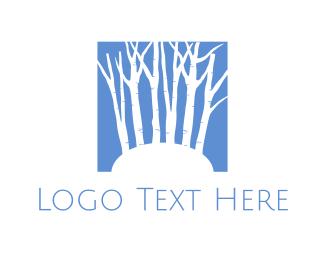 Wood - Blue Forest  logo design