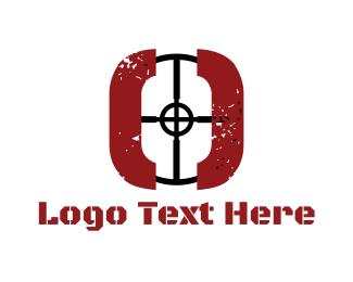 Bullet - Sniper Target logo design