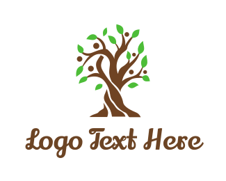 Family - Brown Family Tree logo design
