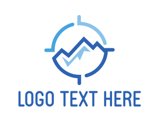 Glacier - Target Moutain logo design