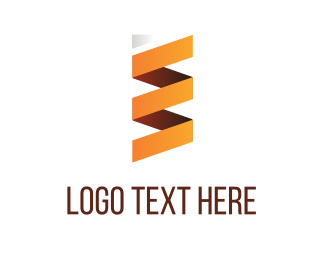 Orange Folded Paper Logo
