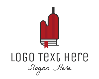 Glove - Recipe Bottle logo design