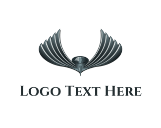 Fabrication - Metallic Bird logo design