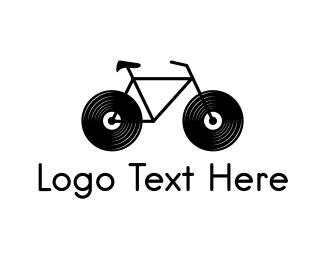 Vinyl - Audio Bike logo design