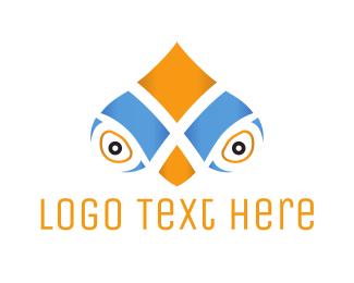 See - Parrot Face logo design