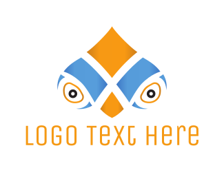 See - Parrot Face logo design