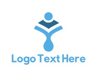 Body - Blue Body Shape logo design