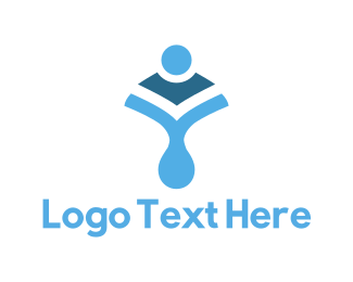 Droplet - Blue Body Shape logo design
