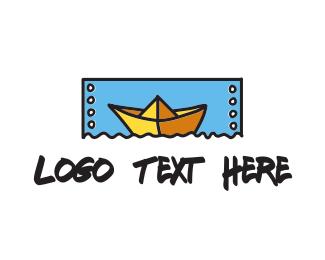 Paper - Paper Boat  logo design