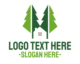 Broker - Green Forest Cabin logo design