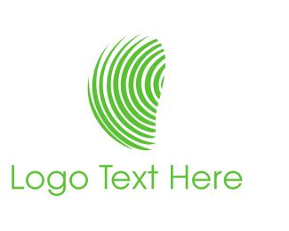 Identity - Green Fingerprint  logo design