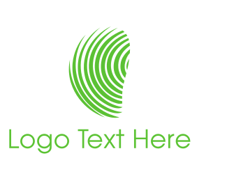Identification - Green Fingerprint  logo design