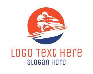 Ride - Fast Jet Ski logo design
