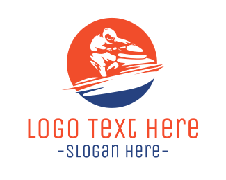 Water Sports - Fast Jet Ski logo design