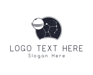 Universe - Night Constellation logo design