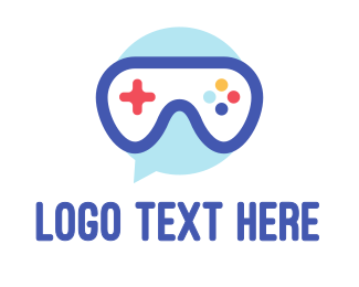Console - Goggle Message Gaming logo design