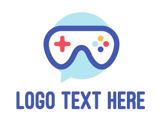Messenger - Goggle Message Gaming logo design