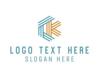 Letter C - C & K logo design