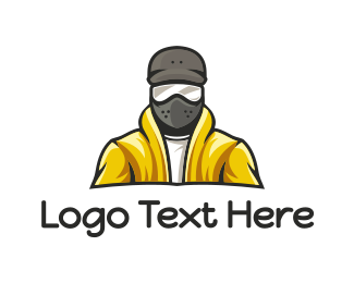 Mask - Yellow Jacket Mask logo design