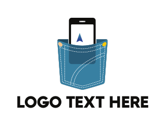 Smartphone - Phone & Pocket logo design