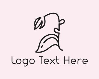 Black And Pink - Black Flower logo design