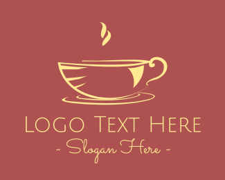 Teapot - Hot Green Tea logo design