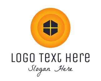 Frame - Yellow Window logo design