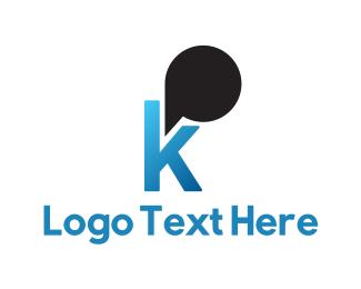 Communications Blue Letter K logo design