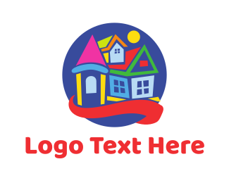 Early Learning Center - Colorful Toy House logo design