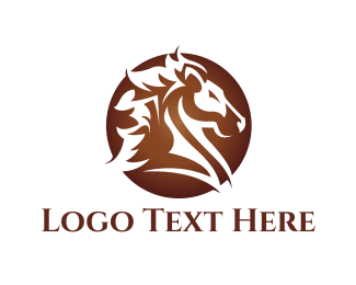 Horse - Brown Horse  logo design