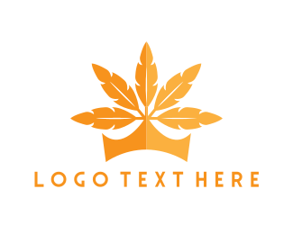 Tribal - Leaf Crown logo design