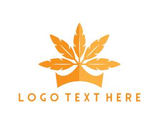 Crown - Leaf Crown logo design