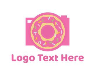 Doughnut - Donut Camera logo design