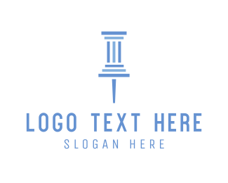 Column - Pillar Pin logo design
