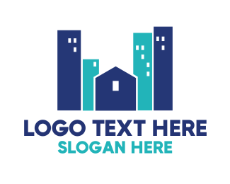 Business Center - Blue Town logo design