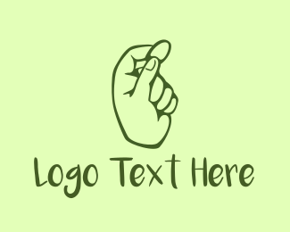 Hand - Green Coin Hand logo design