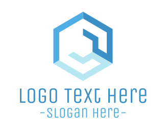 Service - Blue Hexagonal Wrench logo design