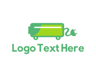 Plug In - Green Electric Car Charger logo design
