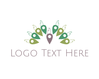 Exotic - Peacock Place logo design