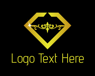 Shiny - Gold Diamond logo design