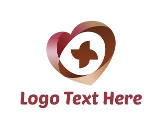 Volunteer - Abstract Heart  logo design