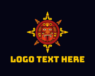 Mexican - Aztec Face logo design