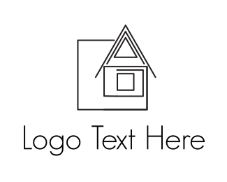Feng Shui - House Drawing logo design