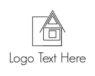 Line Art - House Drawing, logo design