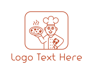 Pepperoni - Pizza Chef logo design