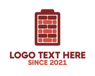 Charger - Battery Bricks logo design