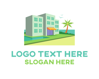 Hawaii - Hotel Resort Beach Waterfront logo design